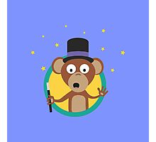 Monkey wizard with stars Photographic Print