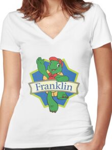 Franklin the turtle Women's Fitted V-Neck T-Shirt