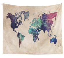 World Map cold World Wall Tapestry