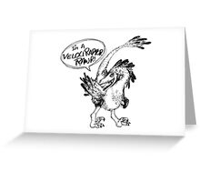 Velociraptor, Rawr Greeting Card
