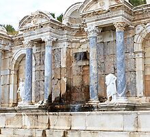 Roman fountain ~ Perga, Turkey  by Jan Stead JEMproductions