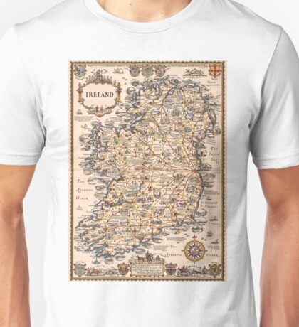 1927 vintage Ireland map Unisex T-Shirt