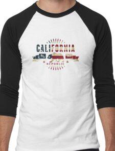 California Stars and Stripes Men's Baseball ¾ T-Shirt