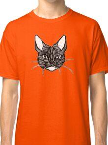 Geometric Cat Tattoo Classic T-Shirt