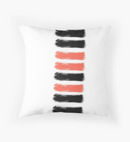 Artsy Paint Brush Stroke Design Throw Pillow