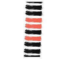 Artsy Paint Brush Stroke Design Photographic Print