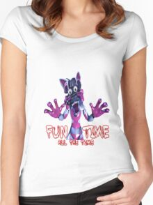 Fun Time All The Time Women's Fitted Scoop T-Shirt