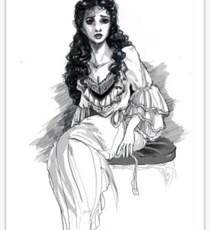 Christine Daae Sketch Sticker