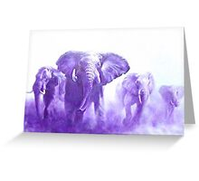 elephants running Greeting Card