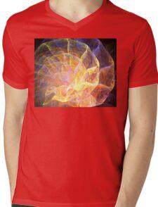 Ribbon Nautilus Mens V-Neck T-Shirt