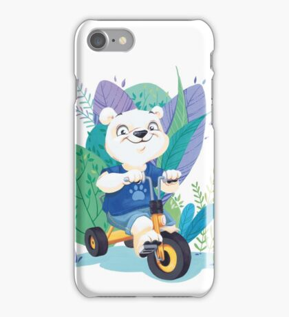 Ourson Tricycle iPhone Case/Skin
