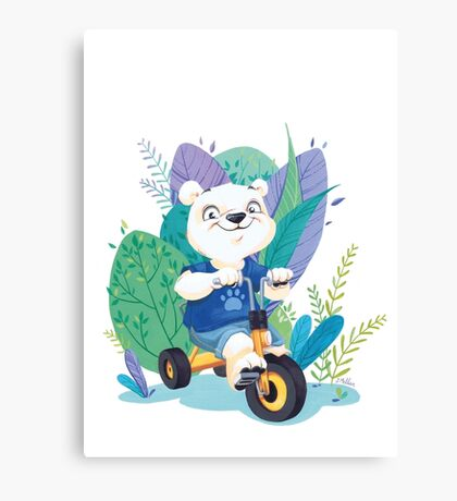 Ourson Tricycle Canvas Print