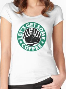 Cage doesn't like coffee. Women's Fitted Scoop T-Shirt