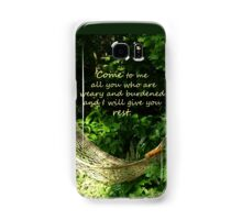 Matthew 11:28  'Come to me all you who are weary..' Samsung Galaxy Case/Skin