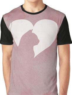Cat Heart  Graphic T-Shirt