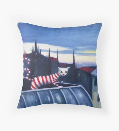 Hot Cat On A Tin Roof Throw Pillow