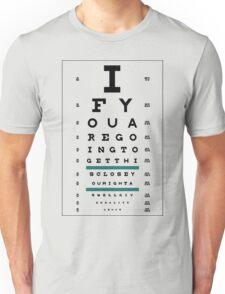 Hug Eye Chart (Clear back) Unisex T-Shirt