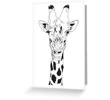 Gavin the Giraffe  Greeting Card
