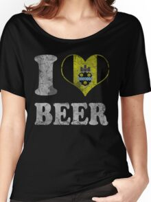 I Heart Pittsburgh Beer Women's Relaxed Fit T-Shirt