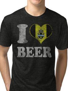 I Heart Pittsburgh Beer Tri-blend T-Shirt