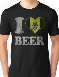 I Heart Pittsburgh Beer Unisex T-Shirt