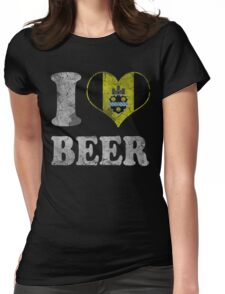 I Heart Pittsburgh Beer Womens Fitted T-Shirt