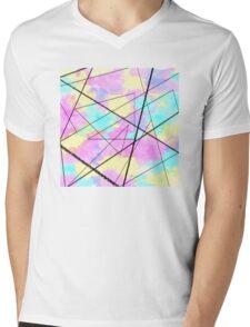 random 80s pattern Mens V-Neck T-Shirt