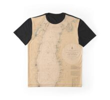 Map of Lake Michigan 1898 Graphic T-Shirt