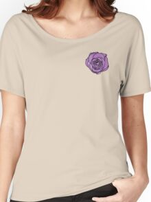 Lavender Rose [Small] Women's Relaxed Fit T-Shirt
