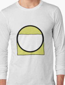 Cartoon Face 2 - Blonde Girl [Big] Long Sleeve T-Shirt