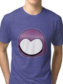 Cartoon Face 3 - Moonbase Girl [Big] Tri-blend T-Shirt