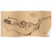 Map of Potomac River 1838 Poster