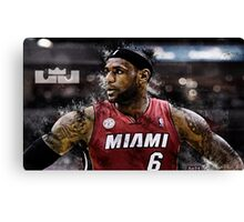 Lebron James Poster, Cover Canvas Print