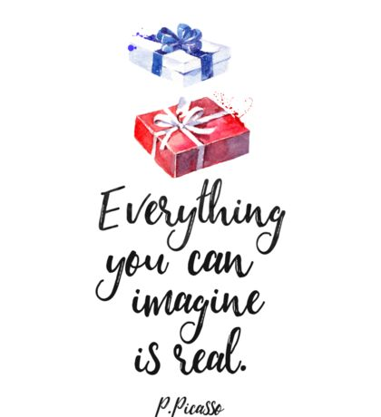 Everything you can imagine is real. cool x Sticker