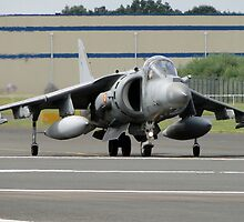 Spanish Navy Harrier II by Barrie Woodward