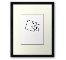 Triangle Muncher T Shirt (white) Framed Print