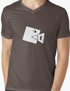 Triangle Muncher T Shirt (white) Mens V-Neck T-Shirt