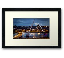 The Peace Bridge - Derry City Framed Print