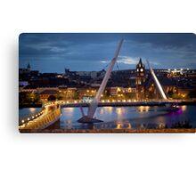 The Peace Bridge - Derry City Canvas Print