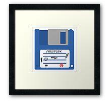 3.5 Inch Floppy Disk Fangpunk T Shirt Framed Print