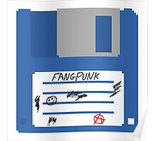 3.5 Inch Floppy Disk Fangpunk T Shirt Poster