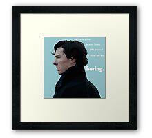 Sherlock Holmes Low Poly - Boring Framed Print