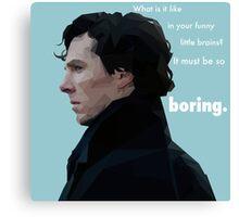 Sherlock Holmes Low Poly - Boring Canvas Print
