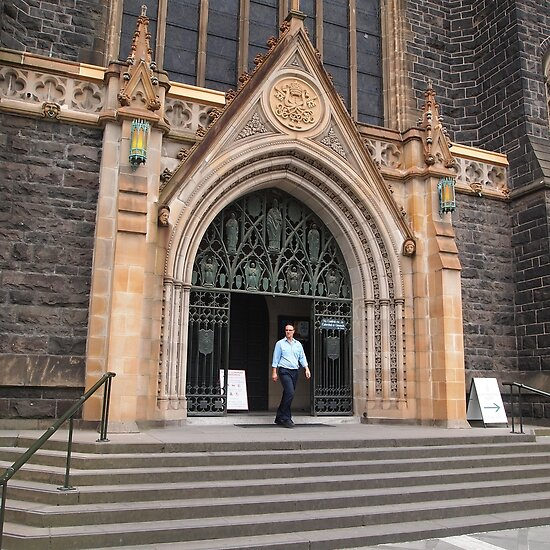 From the steps, St Patrick's Cathedral Melbourne Vic Aust by Margaret Morgan (Watkins)