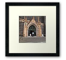 From the steps, St Patrick's Cathedral Melbourne Vic Aust Framed Print