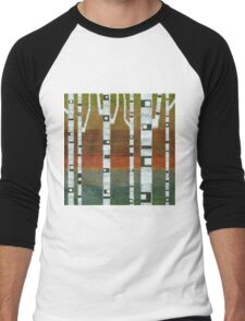 Birches with Blue and Orange Men's Baseball ¾ T-Shirt