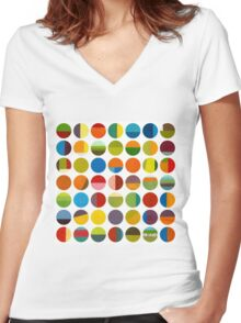 Forty Nine Circles Women's Fitted V-Neck T-Shirt