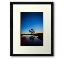 Dam Reflections at sunset Framed Print