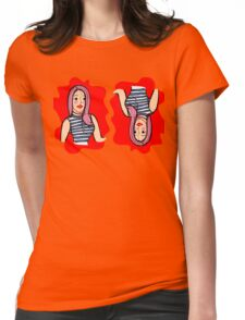 Fashion girl portrait illustration Womens Fitted T-Shirt