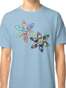Neon Doodle Blooms Classic T-Shirt